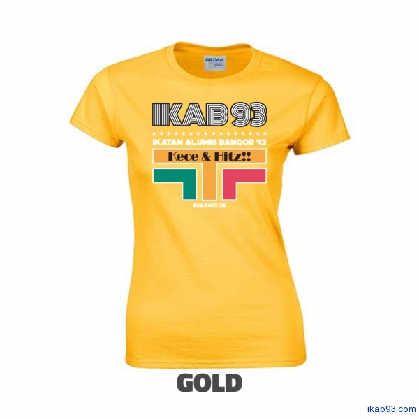 T-Shirt-IKAB93-Retro-Cewe-gold