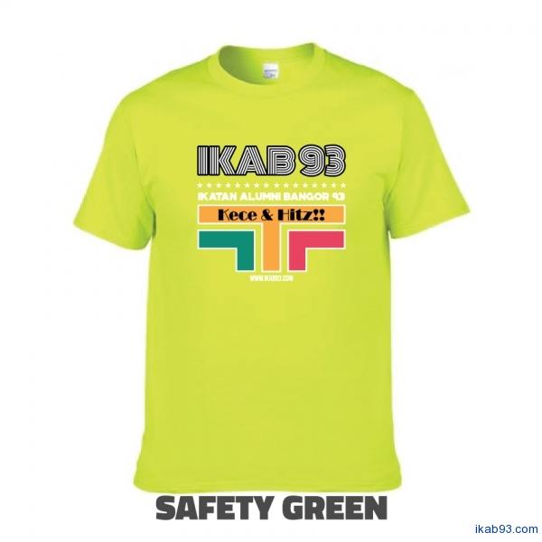 T-Shirt-IKAB93-Retro-safety-green